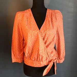 NWT Madewell Wrap in Star Scatter Coral M G7804